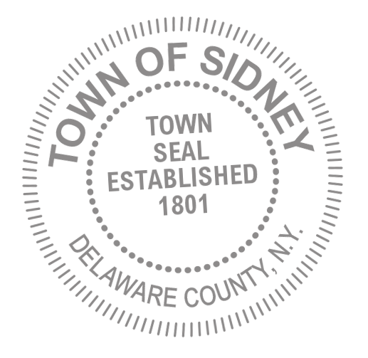 Seal of the Town of Sidney NY